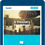 iPad whowing the Kambi events homepage