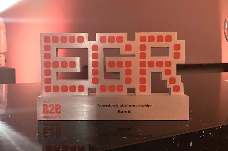 Kambi wins Sportsbook Platform Provider of the Year at the EGR B2B Awards